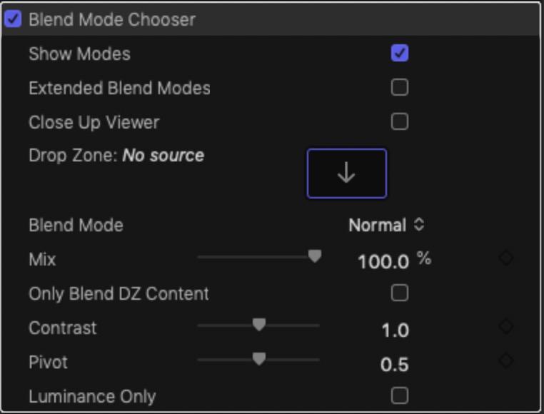 Blend Mode Chooser Parameters