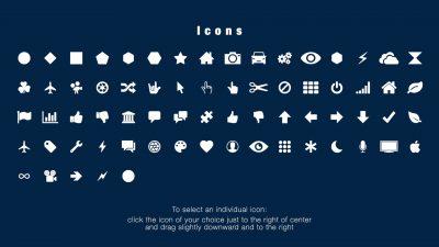 Fly-through Icon selection