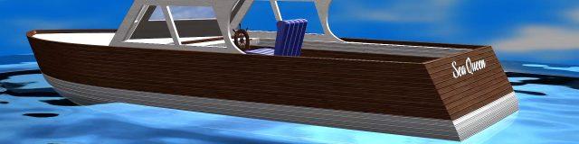 3D Model boat - Sea Queen - Portfolio entry